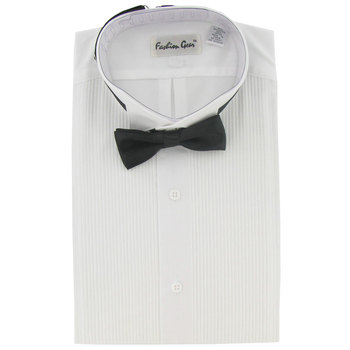 Tuxedo Shirt With Black Bow Tie - Large